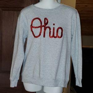 NWOT Script OHIO Gray Pullover Sweatshirt Size Med
